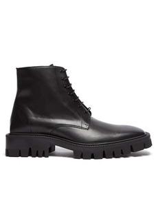 Balenciaga Tread-sole leather boots