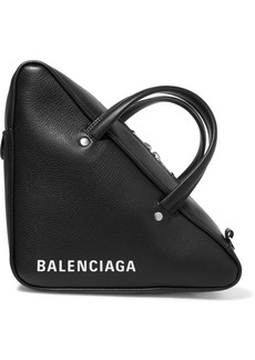 Balenciaga Triangle Duffle Printed Textured-leather Tote