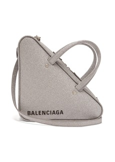 Balenciaga Triangle Duffle S glittered leather bag