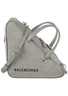 Balenciaga Triangle Duffle Small Glitter Leather Crossbody