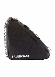 Balenciaga Triangle Leather Chain Shoulder Bag