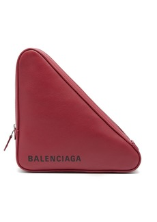Balenciaga Triangle leather clutch