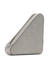 Balenciaga Triangle Pochette M glittered leather clutch