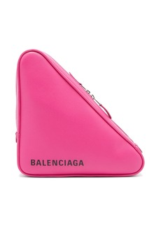 Balenciaga Triangle Pochette M leather clutch