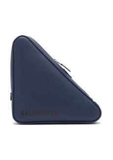 Balenciaga Triangle Pochette M leather clutch