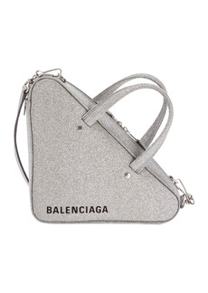 Balenciaga Triangle XS AJ Glitter Leather Duffel Bag