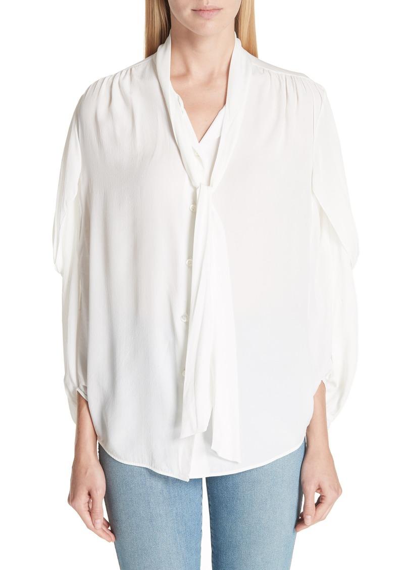 60af48f5766a2 Balenciaga Balenciaga Twist Sleeve Silk Blouse
