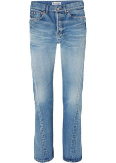 Balenciaga Twisted High-rise Straight-leg Jeans