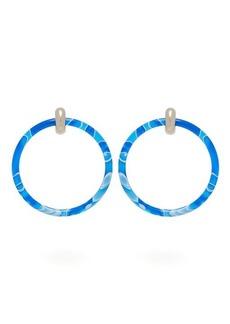 Balenciaga Two-tone large hoop earrings