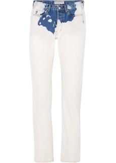 Balenciaga Two-tone Mid-rise Straight-leg Jeans