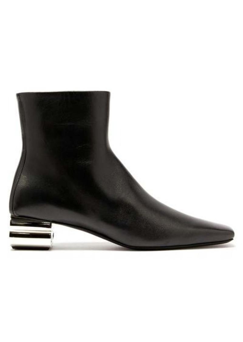Balenciaga Typo chrome-heel leather ankle boots