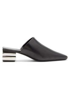 Balenciaga Typo chrome-heel leather mules