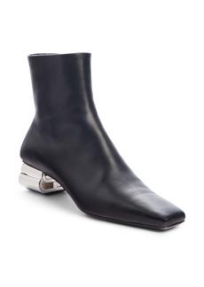 Balenciaga Typo Metallic Logo Heel Bootie (Women)