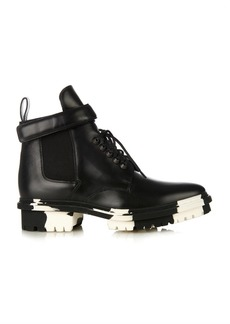 Balenciaga Unit leather biker ankle boots
