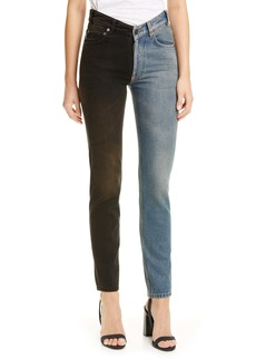 Balenciaga V-Neck Two-Tone Jeans