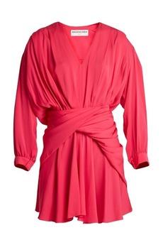 Balenciaga V-neck uplifted dress