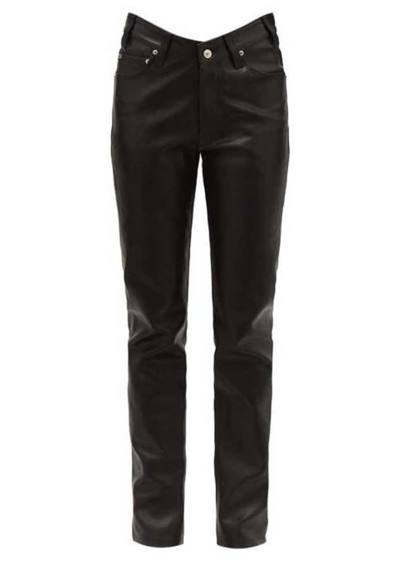 Balenciaga V-waist leather trousers