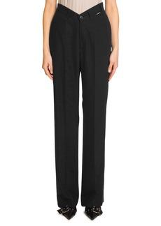 Balenciaga V-Waist Straight-Leg Pants