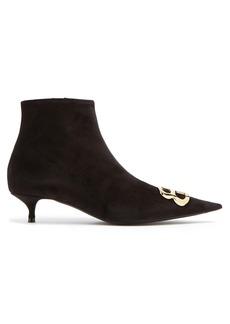 Balenciaga Velvet BB ankle boots