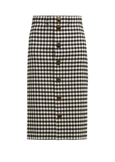 Balenciaga Vichy gingham pencil skirt