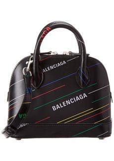 Balenciaga Ville Allover Xxs Leather Top Handle Tote