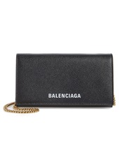 Balenciaga Ville Calfskin Wallet on a Chain