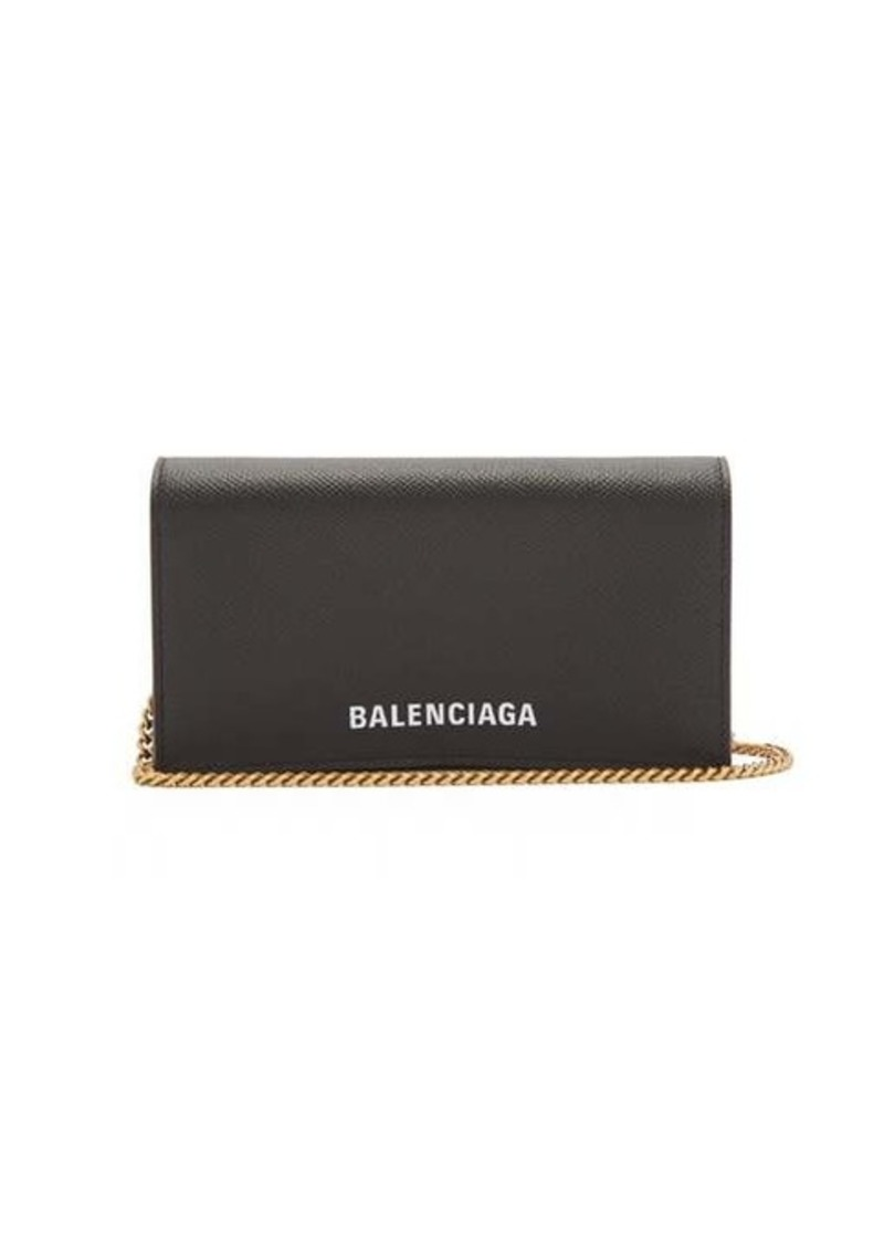Balenciaga Ville chain leather wallet