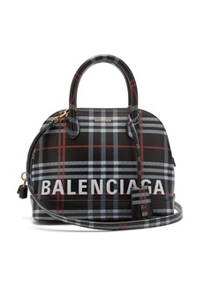 Balenciaga Ville S check leather bag