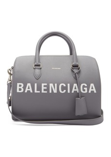 Balenciaga Ville grained-leather bowling bag