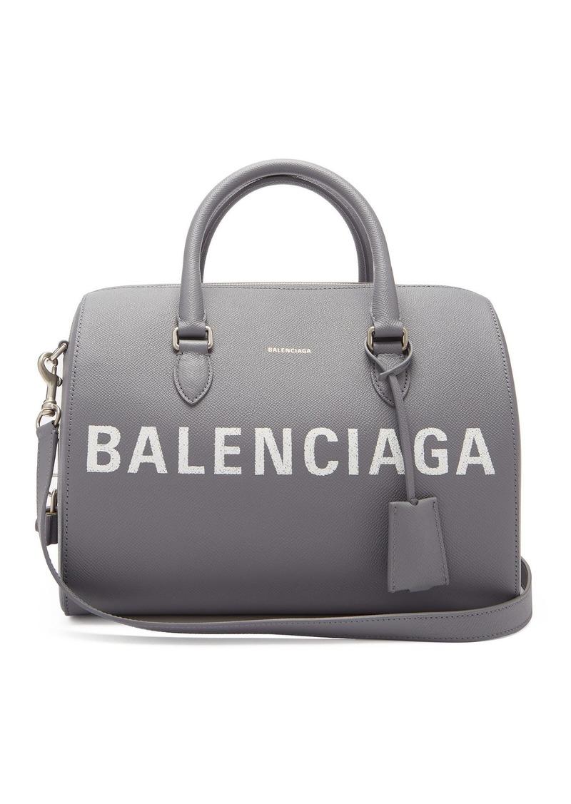 Balenciaga Ville Grained Leather Bowling Bag