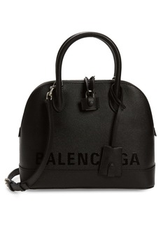 Balenciaga Ville Leather Crossbody Satchel