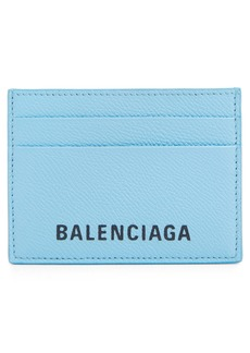 Balenciaga Ville Logo Leather Card Case