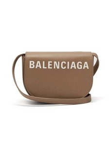 Balenciaga Ville logo leather cross-body bag
