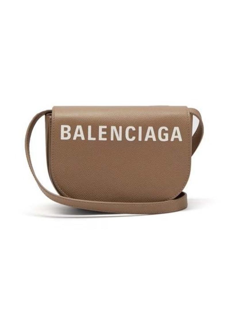 Balenciaga Ville logo leather cross-body bag