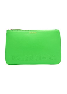 Balenciaga Ville logo-stamped leather pouch