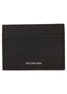 Balenciaga Ville Pebbled Leather Card Case