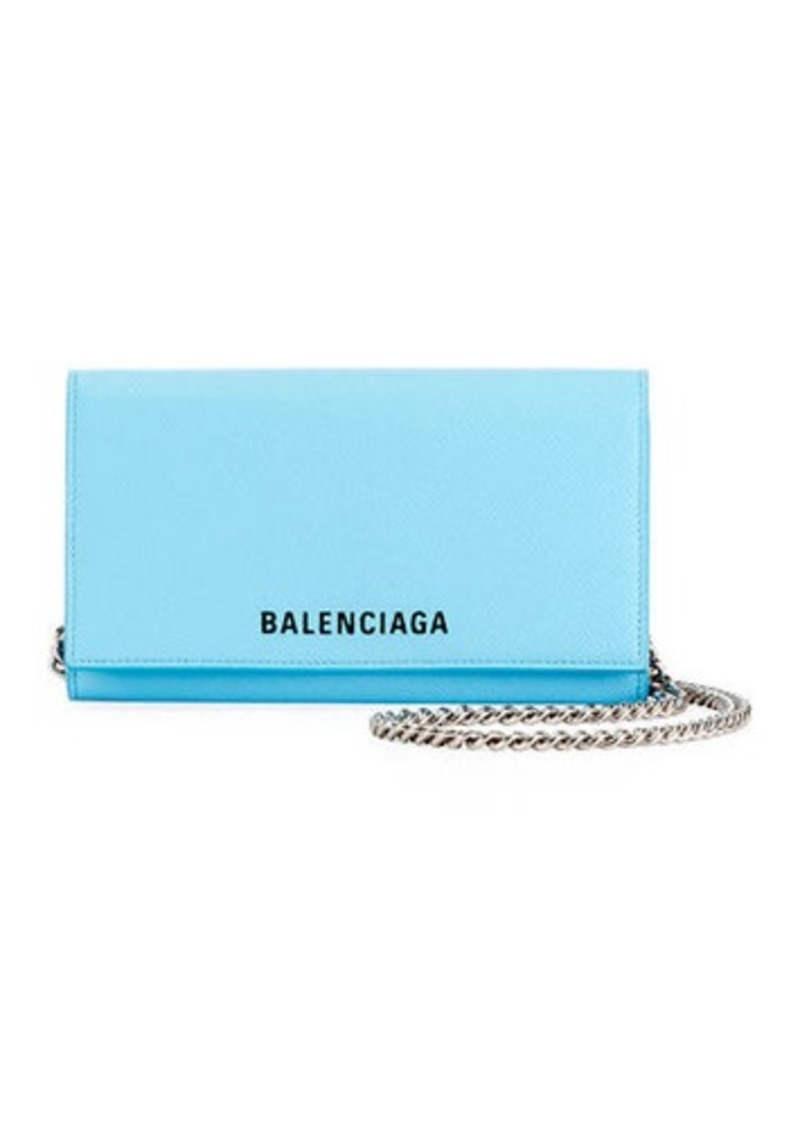 Balenciaga Ville Phone On Chain Calfskin Wallet Bag