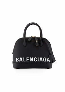 Balenciaga Ville Small AJ Top-Handle Bag with Logo Graffiti