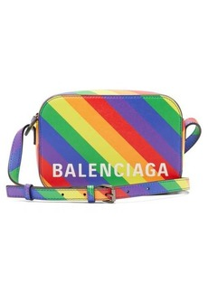 Balenciaga Ville XS rainbow-stripe leather cross-body bag