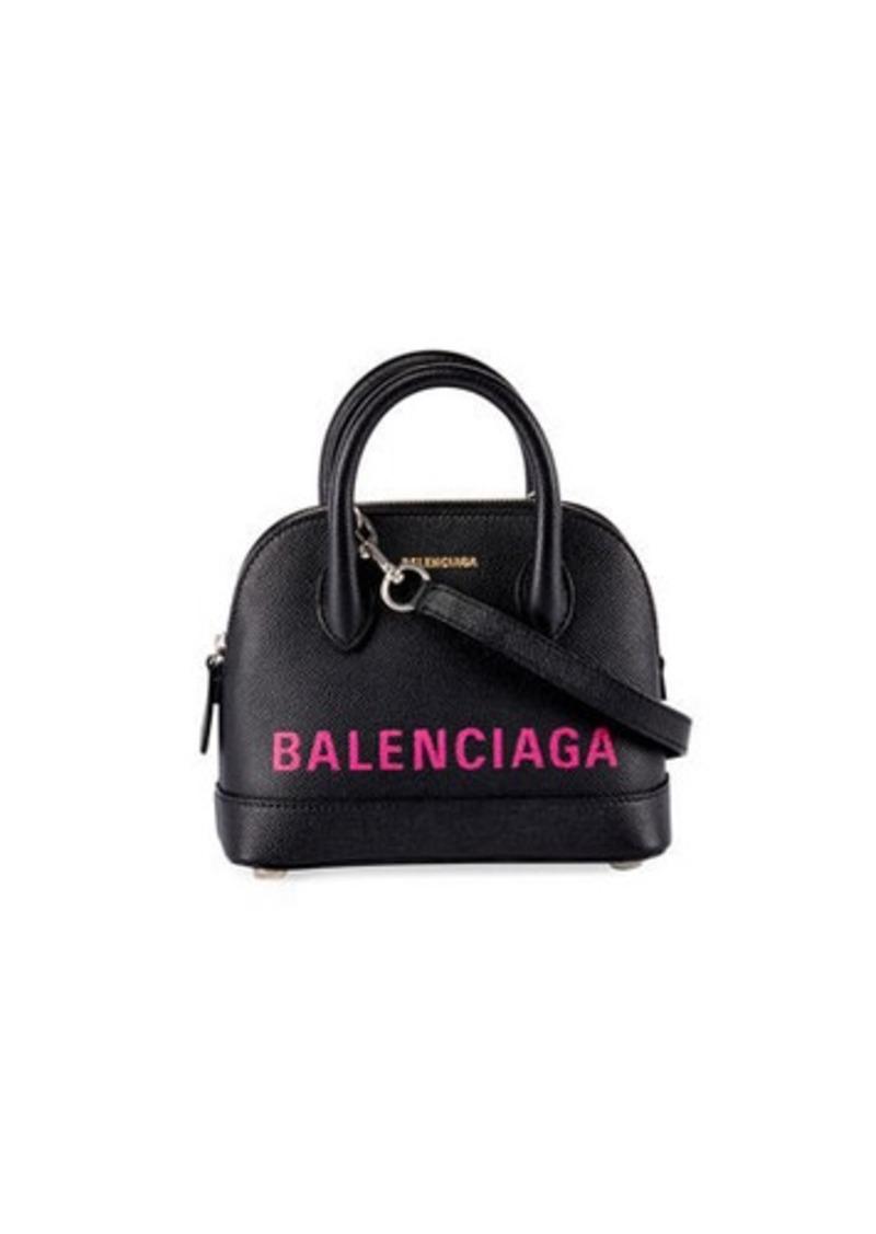 Balenciaga Ville XXS AJ Logo Leather Top-Handle Tote Bag