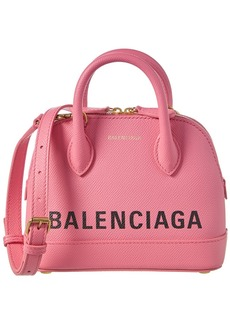 Balenciaga Ville Xxs Leather Top Handle Satchel