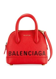 Balenciaga Ville XXS Pebbled Leather Top-Handle Tote Bag