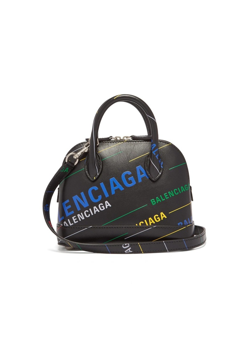 Balenciaga Ville XXS printed leather bag