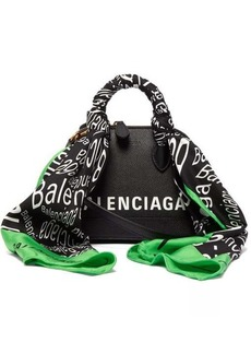 Balenciaga Ville XXS scarf-trimmed leather cross-body bag