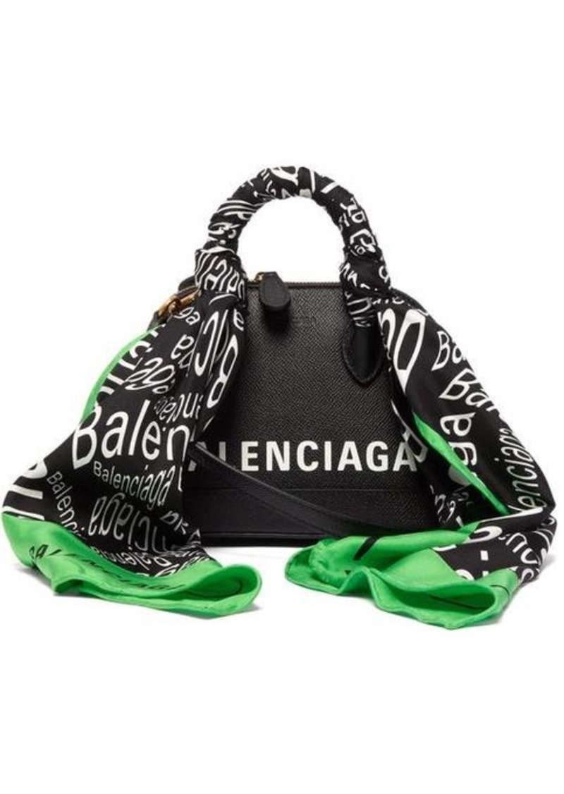 Balenciaga Ville XXS scarf-trimmed leather cross-body bag