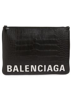 Balenciaga Ville Zip Leather Pouch