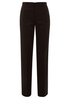 Balenciaga Virgin-wool twill straight-leg trousers