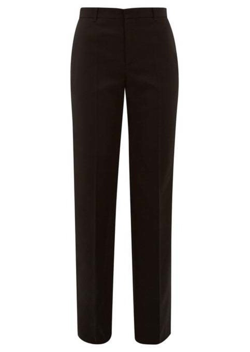 Balenciaga Virgin-wool twill straight-leg trousers