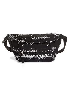 Balenciaga Wheel Allover Logo Belt Bag