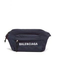 Balenciaga Wheel logo-embroidered belt bag